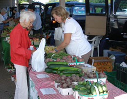 Produce vendor at the Market
